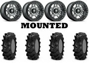 Kit 4 Itp Cryptid Tires 28x10-14 On Fuel Anza Beadlock Gray D918 Wheels Can