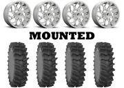 Kit 4 System 3 Xm310r Tires 36x9-20 On Fuel Runner Chrome D204 Wheels Can