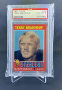 1971 Topps 156 Terry Bradshaw Pittsburgh Steelers Rookie Football Card Psa 6 Rc