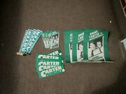 Vintage Lot Of Jimmy Carter Presidential Campaign Bumper Stickers Poster Papers