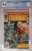 The Eternals 1 Cgc 9.4 1976 Origin And 1st Appearance Jack Kirby Story And Art
