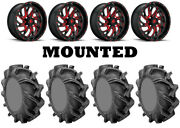 Kit 4 High Lifter Outlaw 3 Tires 35x9-20 On Fuel Kompressor Red D642 Wheels Fxt