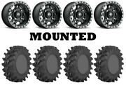 Kit 4 Sti Outback Max Tires 28x10-14 On Fuel Anza Matte Black D557 Wheels Can