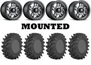 Kit 4 Sti Outback Max Tires 28x10-14 On Fuel Anza Gray D558 Wheels Fxt