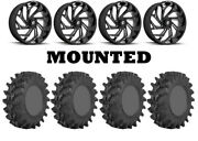 Kit 4 Sti Outback Max Tires 36x9-20 On Fuel Reaction Black D753 Wheels Ter