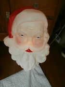 1989 Union Product Blow Mold Giant Santa Claus Face Light Up 21andrdquo 7526