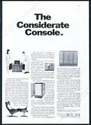 1966 Klh 25 Stereo Charles Eames Lounge Chair Photo Vintage Print Ad