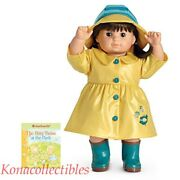American Girl Bitty Twins Rain Gear Yellow Stripes Outfit Euc Easter