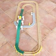 Fisher Price Geotrax Road And Rail Track Straights Curves Signs Trolley Lot 40 Pcs