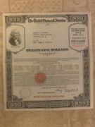 1942 And 1943 Wwii United States War Savings Bond 25 Series E Unclaimed
