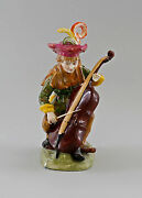 9997054 Porcelain Figurine Bettler-musikant With Chello Ernst Bohne And Sons H21cm