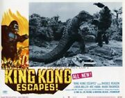 1968 King Kong Escapes Us Hollywood Lobby Cards X 4