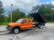 2007 Ford F-450 4x4 Crew Cab Dump Truck Stake Side Removable Sides 6.0 Diesel