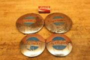 Original Vintage Chrome 1970and039s Ford Lgt100 Lawn Garden Tractor Hub Caps Hubcaps
