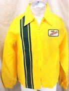 Vintage 70and039s Swingster Dekalb Seed Company Large Zip Up Light Weight Jacket