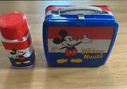 Zojirushi Disney Mickey, Minnie Mouse Lunchbox And Thermos Japan 1980s Lunch Box
