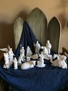 Lenox Nativity 15 Pc Set White Bisque Complete Set With Boxes