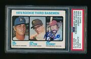 1973 Topps 615 Mike Schmidt Signed Card Rc Authentic Psa 10 Auto Rookie 712