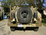 Used Tr Gear Spare Tire Carrier W/duel Jerry Can Mount Brks For Hmmwv M998 A