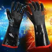 Insulated Heat/cold Resistant Bbq/grill Gloves Oven Mitts For Smoker