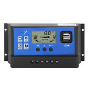 60a 12/24v Lcd Display Street Lamp Intelligent Solar Pwm Double Usb Controller