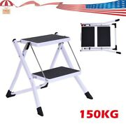 2 Steps Ladder Folding Non Slip Safety Tread Heavy Duty Industrial Home Use New