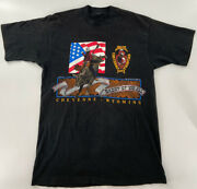 Vintage Cheyenne Frontier Days Wyoming Rodeo Bull 100th Annual Xl Graphic Shirt