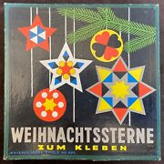 Christmas Tree Stars 1930's Original Boxed Decorations By Ravensburger - Superb