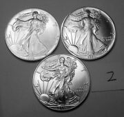 1991 1992 And 2011 Ounce American Silver Eagles From Mint Tubes Lot 2