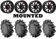 Kit 4 High Lifter Outlaw 3 Tires 35x9-20 On Fuel Runner Red D779 Wheels Can