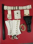 Vietnam Us Army Mp Military Police Leather Holster Belt And Accessory Set - Nice 2