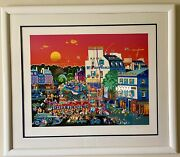 Hiro Yamagata Andldquocircus In The Square Serigraph On Paper /295 Authenticated Sp