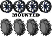 Kit 4 High Lifter Outlaw 3 Tires 35x9-20 On Fuel Runner Blue D778 Wheels 1kxp