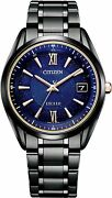 Citizen Exceed As7164-99l Cosmic Blue Collection Solar Menand039s Watch New In Box