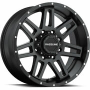 4- 20x9 Black Raceline Injector Cpr9 6x5.5 And 6x135 -12 Wheels Lt305/55r20 Tires