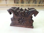 Handmade By The Master. Wooden Napkin Holder Made Of Century-old Oak.