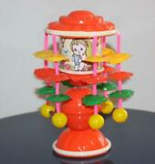 Vintage Musical Toy Merry Go Round Celluloid Mib Wow