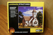Woodland Scenics Landmark Structures Country Church Ho Scale Pre-fab Kit