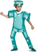 Armor Deluxe Minecraft Mojang Costume Official Licensed Blue Large 10-12