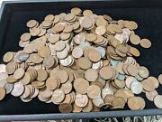 Unsearched Lot Of 500 Lincoln Wheat Penniesandnbsp- Cents