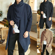 Us Stock Mens Vintage Cape Cloak Poncho Coat Hipster Punk Jacket Trench Outwear