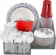 Silver Plate And Cutlery Organizer Large Kitchen Spoon Fork Knives And Cups