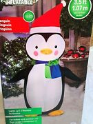 New 3.5and039 Led Penguin Airblown Inflatable Lights Up Christmas Gemmy Decoration