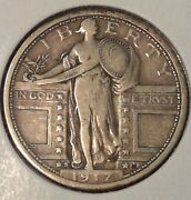 Nicecollector's Coin1917 S Type 1 Standing Liberty Quarter Vf/xf A178