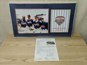 1992 Baseball All Star Game Framed Padres Patch And Braves Photograph Autographed