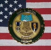 Gary Wetzel Army Vietnam Medal Of Honor Purple Heart Challenge Coin 9400