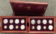 1996 Atlanta Us Olympics 16 Proof Gold And Silver Coin Set In Original Wood Box