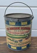 Antique Large 9lb Southern Plantation Syrup Can Black Americana