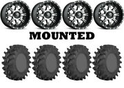 Kit 4 Sti Outback Max Tires 30x10-14 On Fuel Nutz Machined D541 Wheels Pol