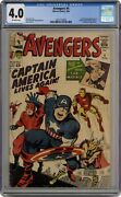 Avengers 4 Cgc 4.0 1964 2011170008 1st Silver Age Captain America And Bucky